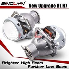 SinolynヘッドライトレンズH7 led 3.0ヘラ3r H7 D2S D2H hidハロゲンバイキセノンプロジェクターレンズ車ライトアクセサリーレトロフィット