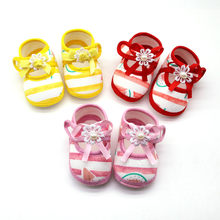 Newborn Girls Watermelon Printing Prewalker Soft Sole Shoes Cute Toddler Kids Single First Walkers Shoes Children Baby slofjes(China)