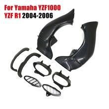 2 stücke YZF 1000 Ram Air Intake Rohr Kanal Abdeckung Verkleidung Für Yamaha YZF1000 YZF R1 2004 2005 2006 ABS kunststoff Motorrad Zubehör