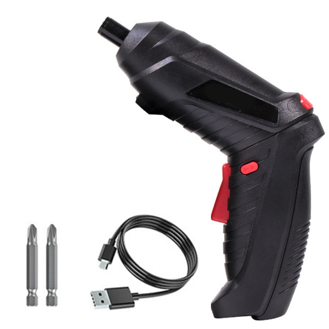 HILDA 6.35mm Mini Electric Drill Cordless Screwdriver USB Rechargeable Screwdriver Power Tools Multifunction Cordless Drill