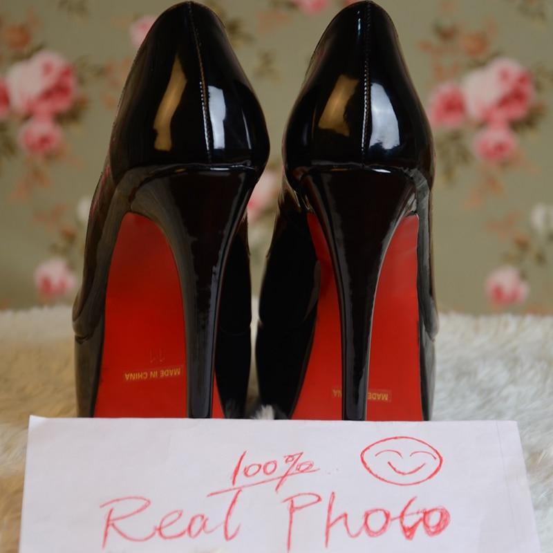 Red Bottom High Heels Stiletto Platform Pumps Open Toe Gradient Blue Nude Women Shoes Evening Dress Party Pole Dancer Classic