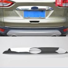 Высокое качество авто-Стайлинг автомобиля задний багажник облицовка капота отделкой для Ford Kuga ESCAPE 2013 АБС ХРОМ 1 шт. автомобильные аксессуары