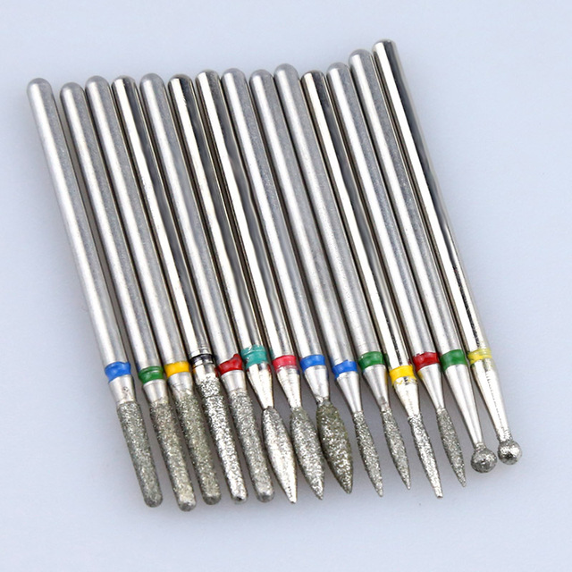 Diamond Cutters for Manicure Set Silicon Ceramic Stone Nail Drill Bits Set Electric Milling Cutter for Pedicure Manicure Machine 5