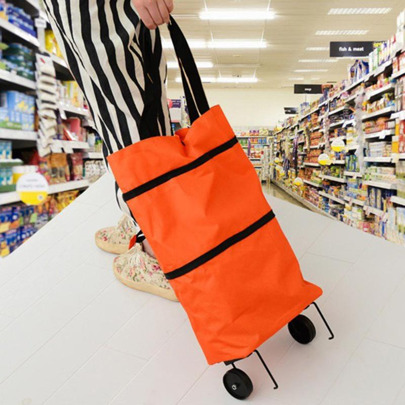 Hot Sale Shopping Bag Multi-function Portable Fashion Folding Shopping Bag Large Capacity Food Organizer Trolley Bag Bolsas