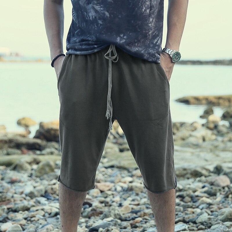 New Summer Dress Water Wash Men's Sports Trousers Type Men's Five-minute Trousers Dark Grey Men's Leisure Shorts K712