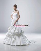 custom-made satin sexy wedding dress 2016 free shipping tiered vestido de noiva casamento romantic new robe mariage appliques