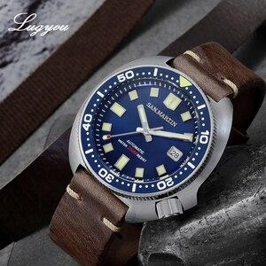 Image 2 - Lugyou סן מרטין צב Diver גברים שעון נירוסטה מכאני קרמיקה לוח מסתובב 20Bar ספיר קריסטל רצועת עור
