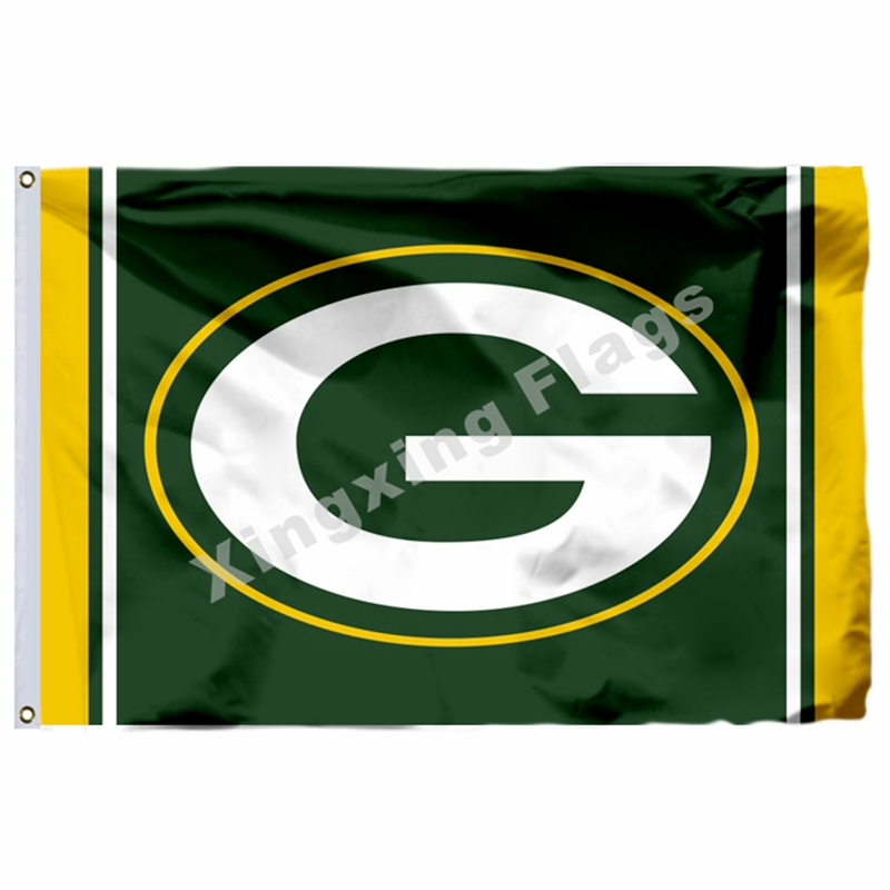 Green Bay Packers Super Bowl Champions Flag 3ft X 5ft Polyester Banner Flying Size No.4 90x150cm Custom Flag image