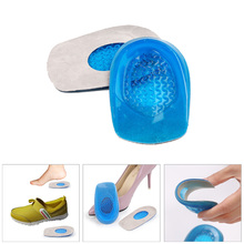 1Pair Silicone Gel feet Cushion Foot Heel Elastic Care Half Insole Pain Relief Insert