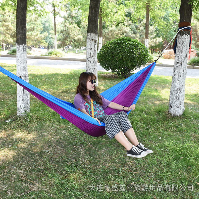 Manufacturers Direct Selling Outdoor Ultra-Light Single Double Hammock Camping Leisure Hammock Travel Portable Swing Wholesale