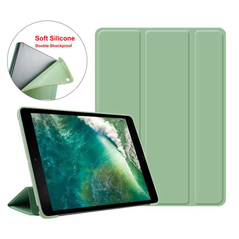 Essidi Soft Silicone Case For ipad 2 3 4 5 6th Generation Flip Cover Utra Slim Tablet Stand Protect Case Sleeve For ipad 2 3 4th
