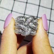 2021 Новая роскошная круглая одноцветное 925 серебро обручальное