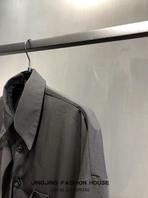 Ruban Design noir homme pioneer ruban déconstruit chemise à manches longues chemise ample - 5