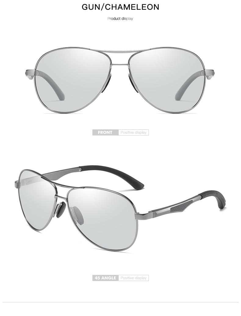 H25cac9238d1b4f4c9d4ba65aad8829ccA 2020 Aviation Driving Photo chromic Sunglasses Men Polarized Eyewear Glasses Women Day Night Vision