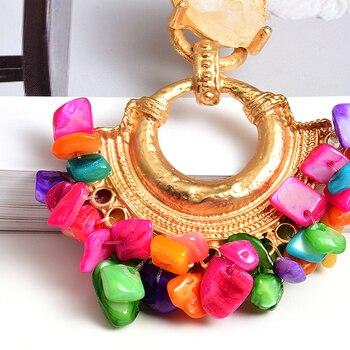 Bohemian Vintage Handmade Colorful Rhinestone  Metal Drop Earrings 5