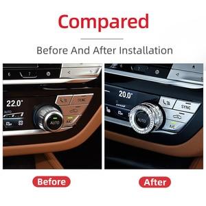 Image 2 - 3 шт. автомобильный воздушный ручка кондиционера декоративное покрытие для бмв BMW F30 F34 F36 G30 M3 M4 X1 F48 X3 G01 X4 G02 X5 F15 X6 F16 аксессуары