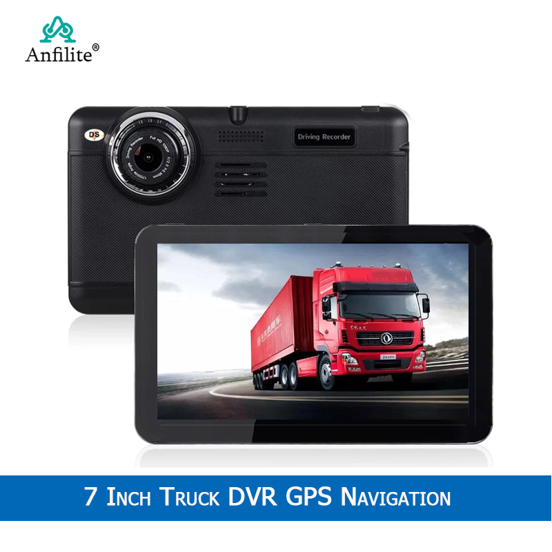 Anfilite 7 인치 HD 안 드 로이드 무거운 트럭 GPS 네비게이션 자동차 카메라 러시아/유럽/미국 + 프랑스지도 차량 gps 768M 16 기가 바이트 GPS|차량 GPS|   -