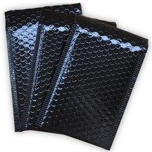 50 ชิ้น/ล็อต Bright พลาสติกสีดำ Bubble ซองกระเป๋ากันน้ำ Mailers จัดส่งซองจดหมายกันกระแทก Mailing Bags