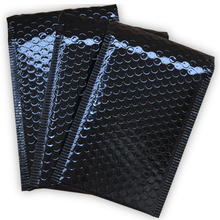 50 قطعة/الوحدة مشرق أسود البلاستيك فقاعة المغلفات أكياس مقاوم للماء البريدية مبطن الشحن المغلف للصدمات البريدية أكياس