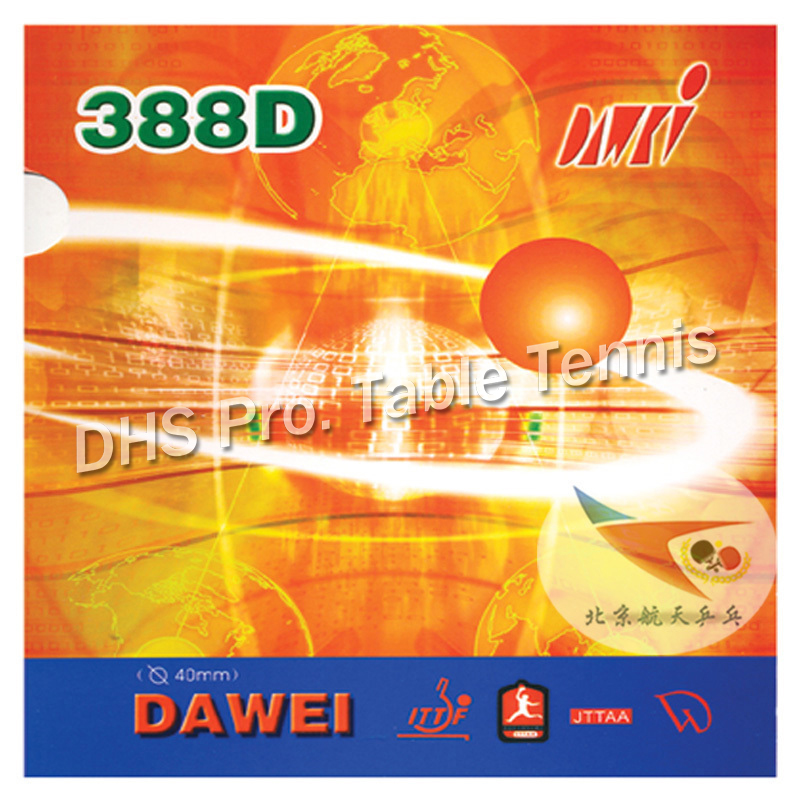 Dawei 388D 388 D 388-D For Defence Long Pips-Out Table Tennis PingPong Rubber With Sponge