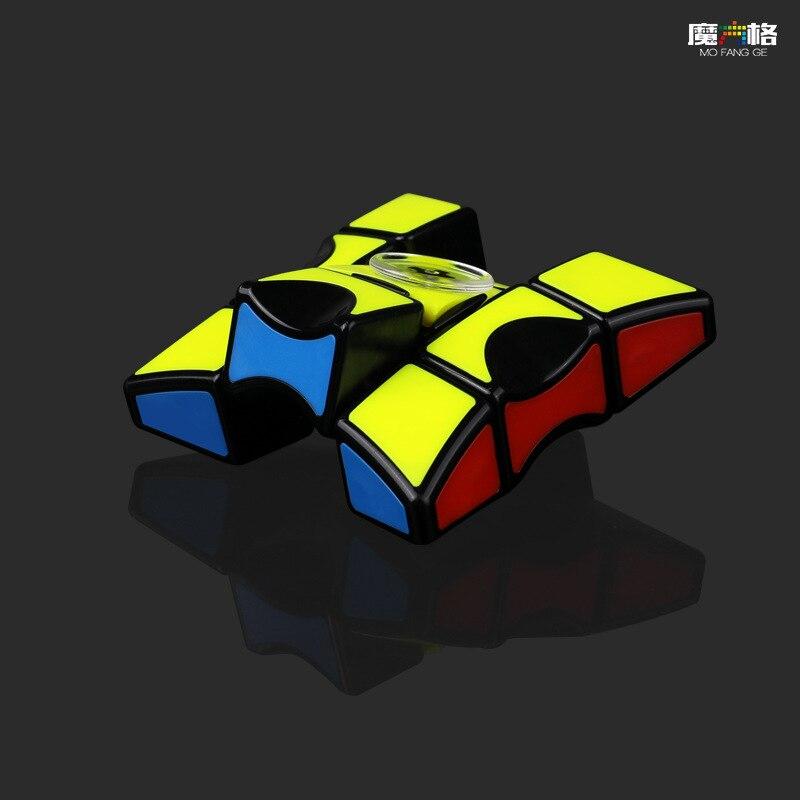Qiyi-cubo mágico giratório para dedos, 1x3x3, quebra-cabeças