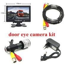 "HD דלת עין CCTV מערכת 2MP דגי עין עדשת 1080P AHD מיני עינית מצלמה עם 7 ""lnch AHD IPS צג דלת חור מצלמה מערכת"