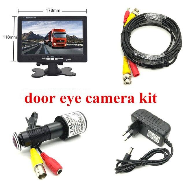 """HD Tür Auge CCTV System 2MP Fish eye Objektiv 1080P AHD Mini Guckloch Kamera mit 7 """"lnch AHD IPS Monitor Tür Loch Kamera System"""