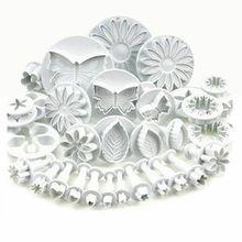 33 шт. формочки для печенья, торта, плунжера, пластиковые формы, сделай сам, 3D формы для выпечки, кухонные аксессуары, инструменты для украшения тортов из мастики
