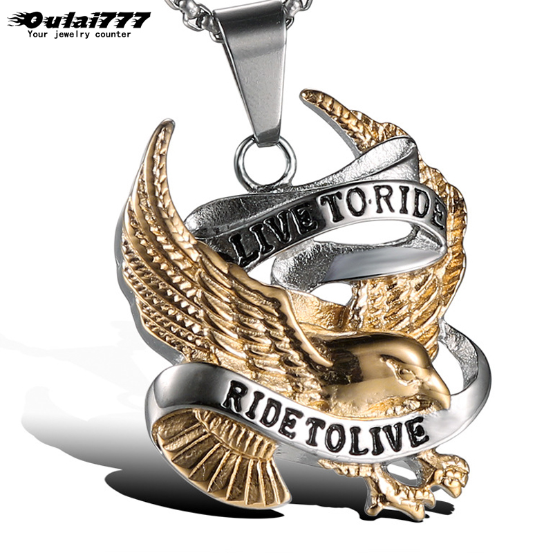 oulai777 mens necklaces & pendants stainless steel silver men accessories personalized punk male necklace chain hippie wholesale