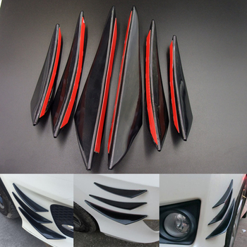 6pcs Black Car Front Bumper Lip Fin Splitter Spoiler Canard for BMW all series 1 2 3 4 5 6 7 X E F-series E46 E90 F09 image