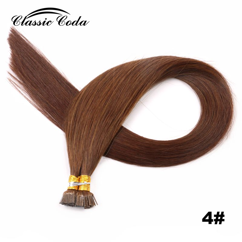 """Classic Coda 100g 22"""" Full Cuticle Remy Flat Tip Hair Extensions 1.0g/s Straight Capsules Keratin Pre Bonded Hair Lustrous"""