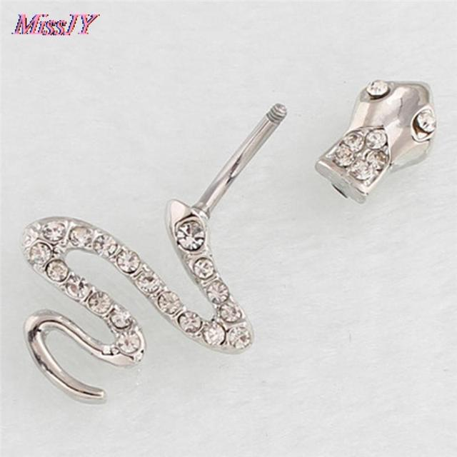 14G 316L surgical steel bar Nickel-free Retail Snake belly button ring fashion lizard lady body piercing navel belly jewelry 4