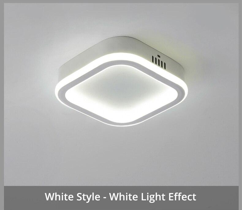 Novo acrílico quadrado redonda lâmpada lustres para