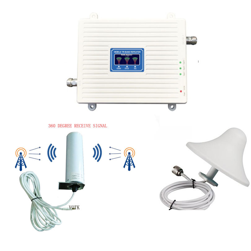 NEW Tri Band SIGNAL Booster 2G3G4G  Signal Repeater CELLULAR 4g 1800mhz LTE SIGNAL AMPLIFIER WITH 360 OMNI OUTDOOR ANTENNA SET