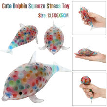 Kids Toys Squeeze Relief Stress Ball Toys Spongy Dolphin Bead Toys For Children Anti-stress Non-toxic Educational Toy Brinquedos(China)