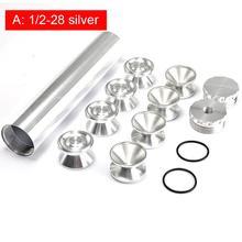 13pcs Set 9 Inch Car Fuel Filter 1/2-28 5/8-24 6061 Aluminum Cups For NAPA 4003 WIX 24003 Trap Solvent Filters