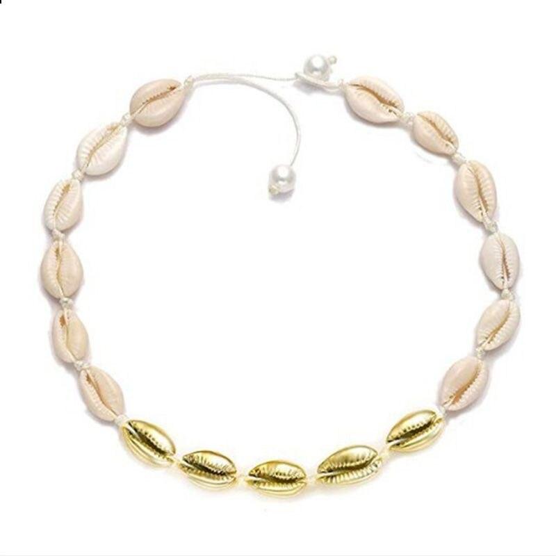 Экологически чистое ожерелье с искусственным жемчугом из натуральной раковины, модное простое ожерелье ручной работы для женщин и девочек,... - 3