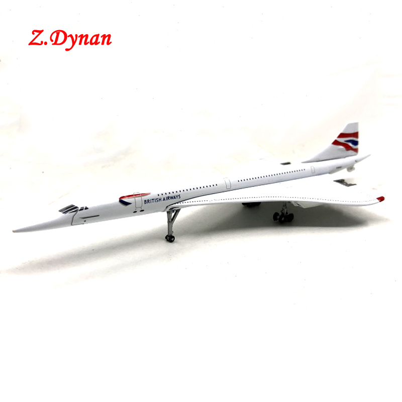 15CM 1:400 Scale British Airways Concorde 1976-2003 Airline Metal Airplane Model Children Collection image