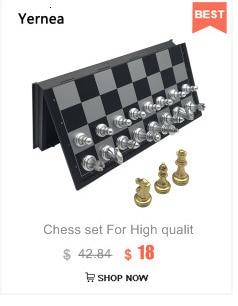 Yernea xadrez e damas dobrável magnético duplo-uso
