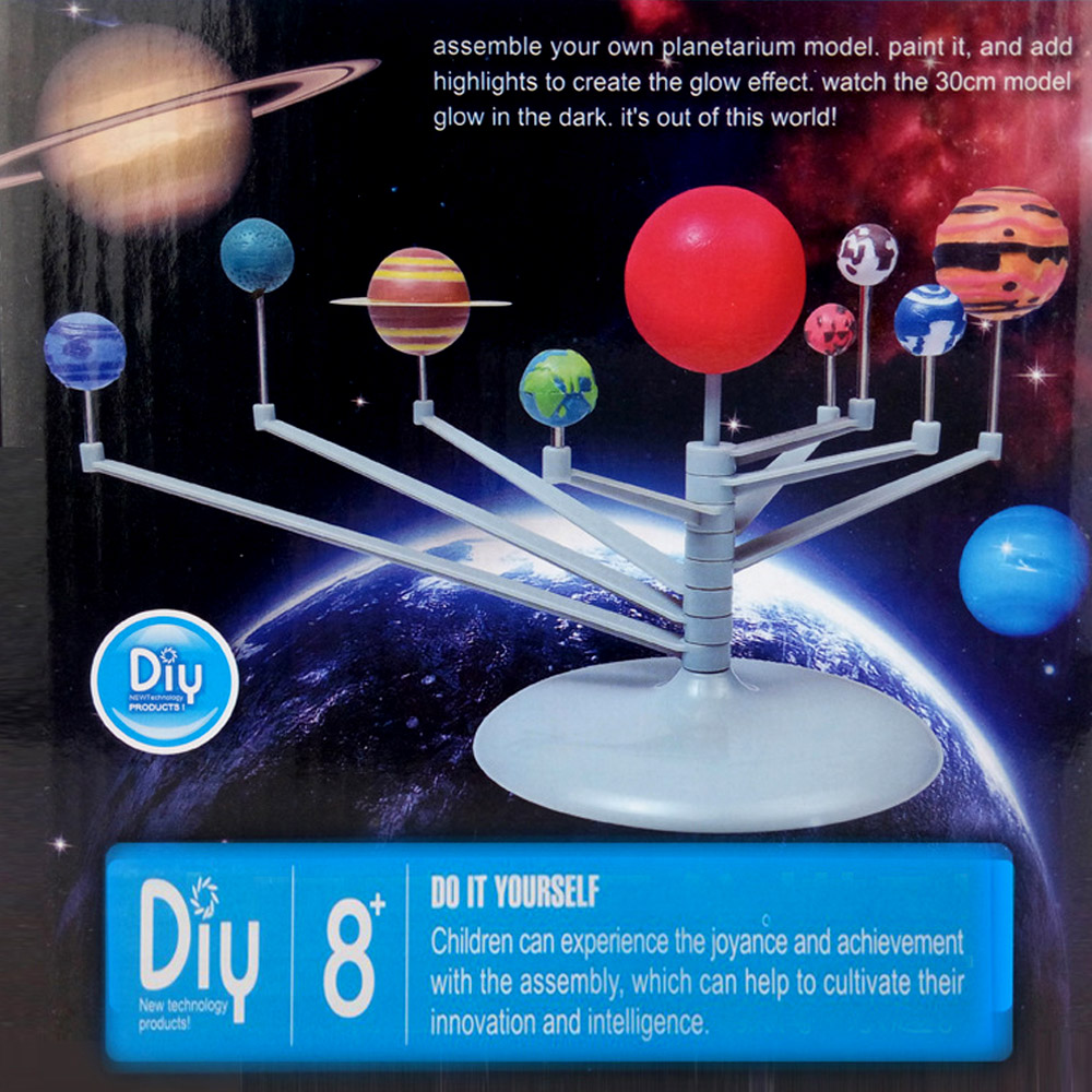 DIY Assembling Solar System Nine Planets Planetarium Model Kit Astronomy Science Project Early Education Toys For Kid Teenager