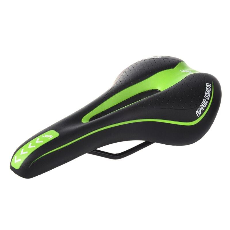 RockBros Cycling Comfort Saddle Black Green Road Bike MTB Seat CR-MO Rail Hollow