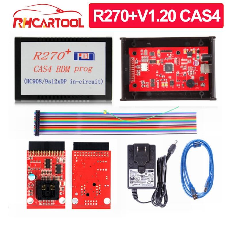Диагностический инструмент OBD2 R270 + CAS4 BDM Prog, программатор R270 V1.20 для профессиональной автомобильной программы AK90 ДЛЯ BMW