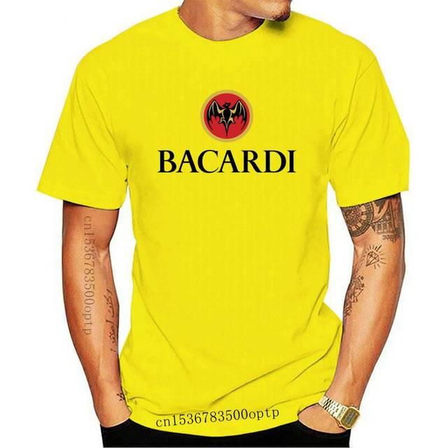 Bacardi Rum T-shirt.All Cotton Gray,White,Khaki,Yellow.Size S-XXL Free Ship USA