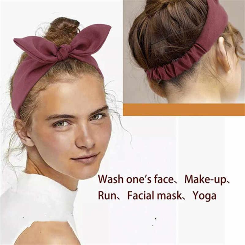 2019 ใหม่ล่าสุดสไตล์ฤดูหนาวผมวงกระต่ายหู Headbands Vintage Bowknot Turban ผู้หญิง HairBands แฟชั่นอุปกรณ์เสริมผม