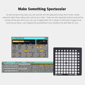 Image 5 - novation LAUNCHPAD MINI Ultra compact USB MIDI Drum Pad Controller for Ableton Live 64 Backlit Pads 16 Control Buttons