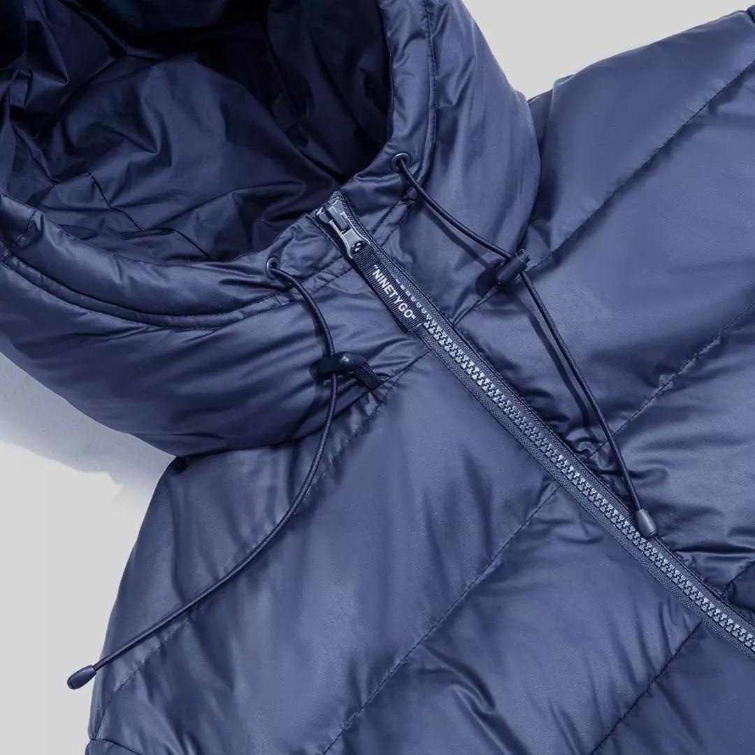 Youpin NINETYGO Smart Heated Down Jacket USB Electric Heating Large Area Heating Fashion Parka Waterproof Winter Warmer Jackets