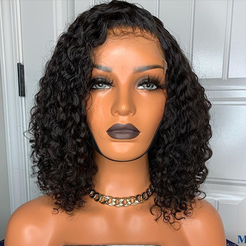 PrePlucked Natural Hairline Silk Base Curly Lace Front Wigs for Black Women 150Density Silk Top Glueless Full Lace Remy Hair Wig