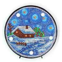 Special Shaped Diamond Painting LED Lamp Light Christmas 5D Diamond Embroidery Mosaic Owl DIY Unfinished Kit