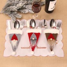Christmas Cutlery Cover Merry Christmas Decor for Home Decor 2020 Natal Noel Christmas Table Decor Xmas Gift Happy New Year 2021 cheap CN(Origin) PD-518~525 xmas decoration vintage christmas