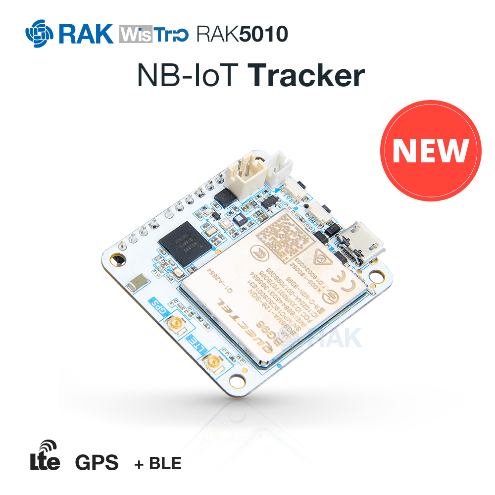 WisTrio RAK5010 NB-IoT Tracker Board Module Quectel Bg96 Integrate LTE GPS BLE5.0 Sensor With GPS IPex Antenna USB Cable Q260